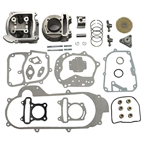 GOOFIT 100cc Big Bore Cylinder Rebuild Kit GY6 50cc 139qmb Racing Scooter Parts 50mm Bore Upgrade (Honda Spree compare prices)