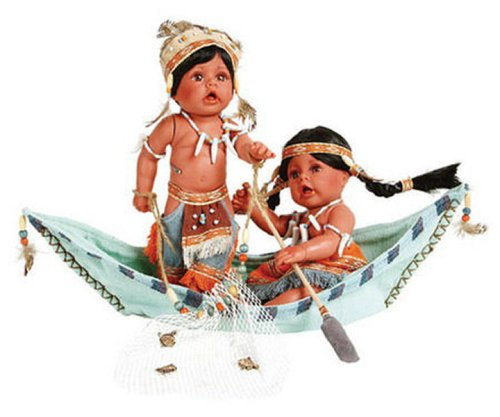 Buy KIMA & KIMO 8″Vinyl Native American w/Canoe Doll