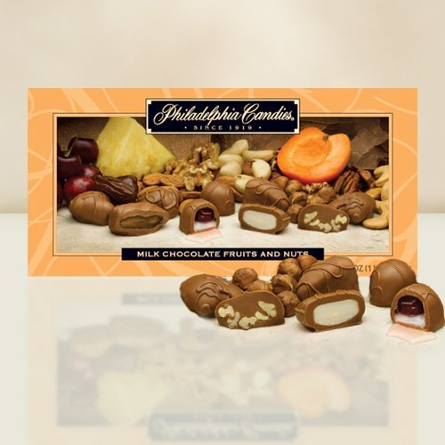 Philadelphia Candies Milk Chocolate Covered Fruits (Apricots, Cherries, Dates, Pineapple) and Nuts
