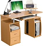 Piranha PC5b Large Computer Desk with 2 Drawers and 4 Shelves