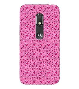 EPICCASE pinky little hearts Mobile Back Case Cover For Moto Play (Designer Case)