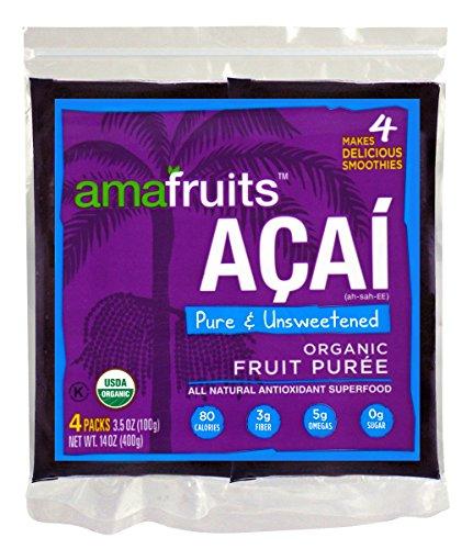 Pure Acai Berry Puree Smoothie Packs