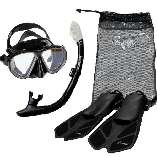 Seavenger Diving Snorkel Set- Dry Top Snorkel / Trek Fin