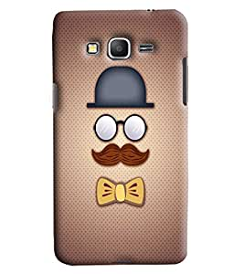 Blue Throat Men With Eyes And Moustache Printed Desginer Back Cover/Case For Samsung Galaxy Grand Prime