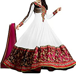 Neelkanth Women's Georgette Semi Stitched Dress Material (FB-6542_Multi-Coloured_Free Size)