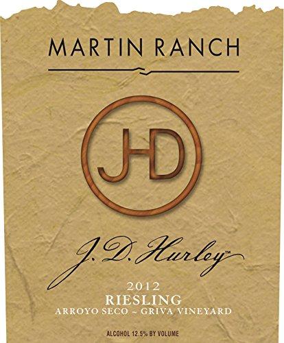 2012 Martin Ranch Winery J.D. Hurley Riesling Santa Clara Valley 750 Ml