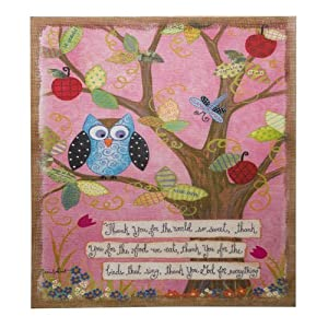 amazoncom inspirational owl and tree burlap canvas wall art