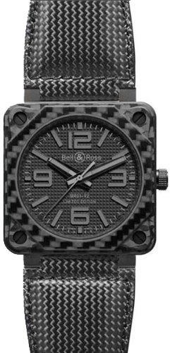 Bell and Ross Aviavtion Carbon Fiber Phantom Black Dial Automatic Mens Watch BR0192-CA-FIBER-PH