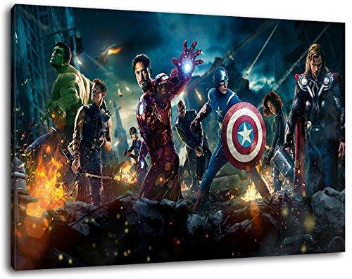 Formato dei Marvel Heroes 120x80 cm dipinto su tela, XXL Immagini enormi completamente Pagina con la barella, incorniciatura sulla foto muro con telaio