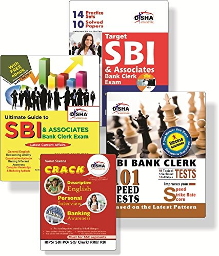 Crack SBI & Associates Bank Clerk Exam (Guide + 9 Solved Papers + 96 Topic-Wise Tests + 14 Practice Sets) with CD