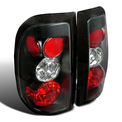 Spec-D Tuning LT-DAK97JM-TM Dodge Dakota R/T Pickup Truck Black Tail Lights (Cab Lights Dodge Dakota compare prices)