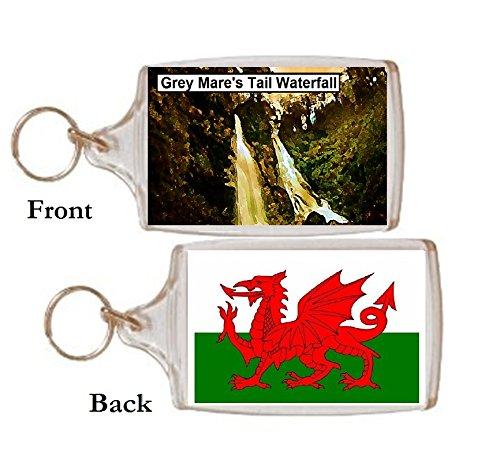 Schlüsselring Grey Mares Tail Wasserfall Wales Geschenk Tourist Souvenir