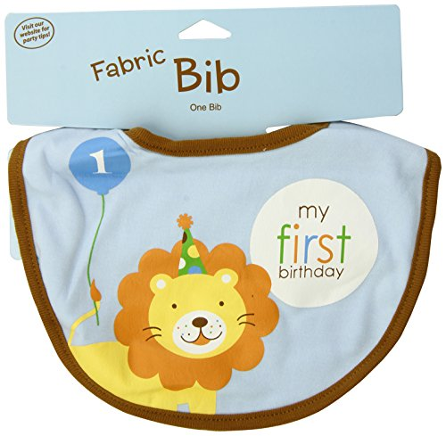 Creative Converting Sweet at One Boys First Birthday Fabric Bib