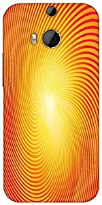 Snoogg Trendy Sunburst Designer Protective Back Case Cover For HTC M8