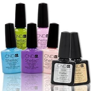 CND Shellac UV Nail Gel Polish SWEET DREAMS Collection 5 Colors Base Top Coat