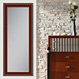 Elegant Arts & Frames Brown With Golden Line Wall Decorative Wooden Mirror 24 Inch X 36 Inch