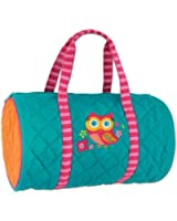 Stephen Joseph Quilted Owl Duffle Bag (Teal) - Dance Bag - Travel Bag