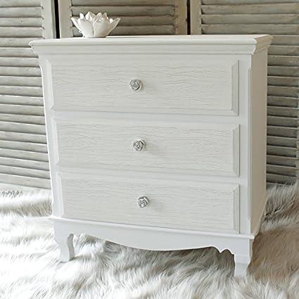 Lila Reihe–Weiß 3Schubladen Kommode