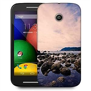 Snoogg Stones In The Sea Designer Protective Phone Back Case Cover For Motorola E / Moto E