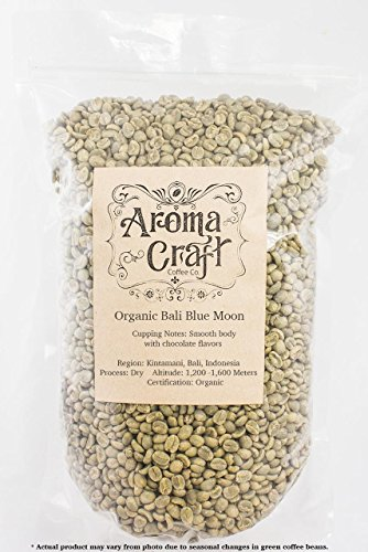 Aroma Craft Coffee : Bali ORGANIC Blue Moon Unroasted Coffee Green Beans Home Roasting (1 lb)