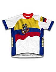 Ecuador Flag Short Sleeve Cycling Jersey for Women
