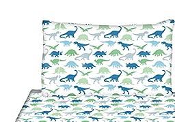 Full/Double Sheets Set Kids - Microfiber Sheet Set for Boys Dinosaurs Theme