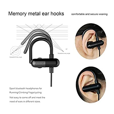 Bluetooth Earphones V4.1 | COULAX QY11 Lightweight earbuds Wireless Stereo Sports Headset Sweat proof for Sport, Gym with Mic/APT-X for iPhone, iPad Pro, Android [2016 Generation]