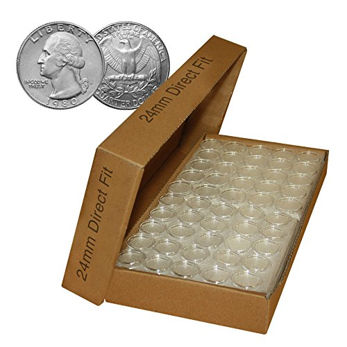 Direct-Fit-Airtight-24mm-Coin-Holder-Capsules-for-QUARTERS-CASE-QTY-1000