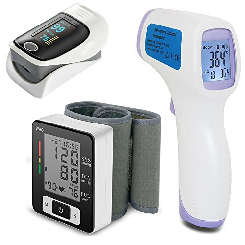 Blood Pressure Cuff + Pulse Oximeter Fingertip + Infrared - Import It All