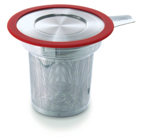 Best Prices! Brew-in-Mug Extra-Fine Tea Infuser with Lid, Red