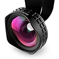 Aukey Optic Pro Lens, 18MM HD Wide Angle Cell Phone Camera Lens Kit, 2X More Landscape, No Distortion, No Dark...