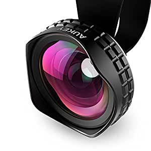 Aukey Optic Pro Lens, 18MM HD Wide Angle Cell Phone Camera Lens Kit, 2X More Landscape, No Distortion, No Dark Circle, for iPhone 6s, 6s Plus, Samsung Galaxy, Android Smartphones