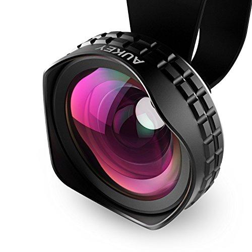 Aukey 広角レンズ 18MM HD ワイドレンズ iPhone 6s/6s Plus/Samsung Galaxy、Sony、Androidスマートフォンなどに対応 PL-WD01
