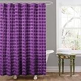 Lush Decor Emma Shower Curtain, 72 by 72-Inch, Purple