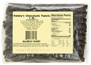 Kennys Licorice Twists, Chocolate, 1 Pound
