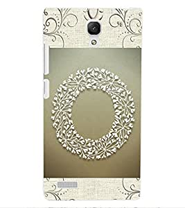 "ColourCraft Alphabet ""O"" Design Back Case Cover for XIAOMI REDMI NOTE 4G"