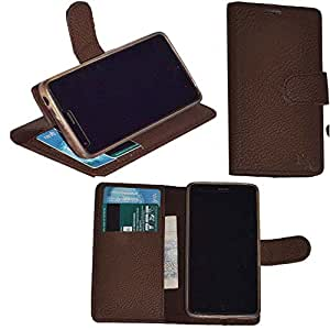 R&A Pu Leather Wallet Flip Case Cover With Card & ID Slots & Magnetic Closure For Sony Xperia Z