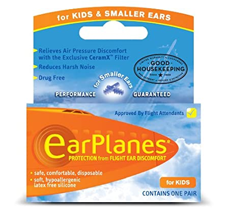 EarPlanes earplugs to relieve air pressure discomfort.