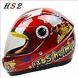 SHINA 人気がある かわいい アニメスタイルの オートバイのヘルメット Motor ABS 軽くの子供たちの贈り物 (赤)