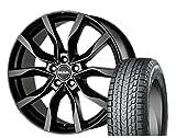 [225/65R17]YOKOHAMA / ice GURAD SUV G075 スタッドレス [2/-][MAK / KOLN (MBK) 17インチ] スタッドレス&ホイール4本セット CX-5(KE#)、CR-V(RE3/RE4)、エクストレイル(T32系)
