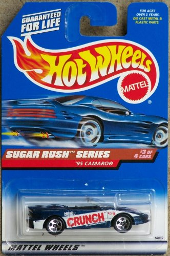 Hot Wheels - 1998 Sugar Rush Series - 1995 Camaro - Nestle Crunch Paint Job - #3 of 4 - Die Cast - Limited Edition - Collectible 1:64 Scale - 1