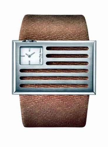 Calvin Klein K4513126 - Reloj de mujer de cuarzo, correa de textil color marrón