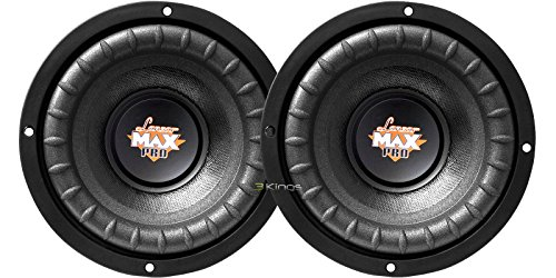 "New Pair Lanzar Maxp64 6.5"" 600W Car Audio Subwoofer 300W Rms 4 Ohm Svc Bass Sub"