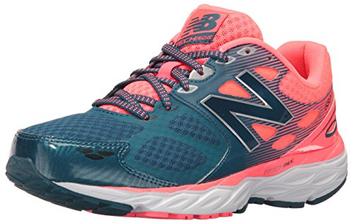 New Balance Women's 680V3 Running Shoes, Blue/Pink, 8.5 B US