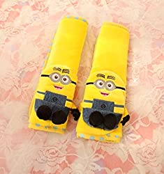 See Finex Despicable Me 2 Minion Car Seat Belt Sets Cover (Set of 2) Details
