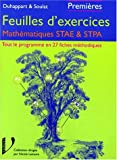 echange, troc Duhappart - Les exercices corrigés : mathématiques STAE/STPA, 1ère