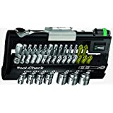 "Wera Tools 05347180001 38Pc 1/4"" (SAE) Drive Mini Bit-Ratchet, Bit Tip and Socket Set"