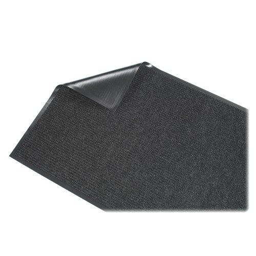 Wholesale CASE of 5 - Genuine Joe Golden Series Walk-Off Mats-Indoor Mat, Vinyl Backing, 3'x5', Charcoal