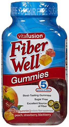 Vitafusion Fiber Gummies, Sugar Free, 90 Count