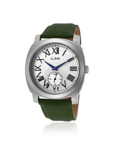 a_line Women's 80023-02-D-GN Pyar Green/White Leather Watch